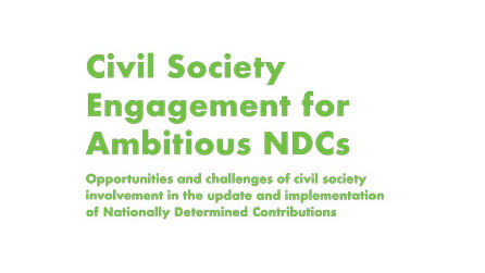 Civil Society Engagement for Ambitious NDCs