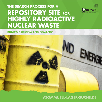 The search process for a repository site for highly radioactive nuclear waste. Foto: BUND