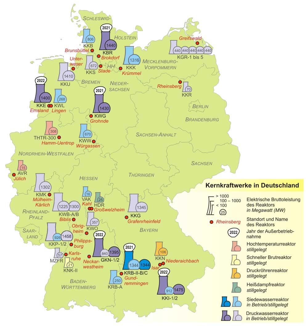 atomkraftwerke deutschland karte Deutschlandkarte mit Steckbriefen der deutschen AKWs – BUND e.V. atomkraftwerke deutschland karte